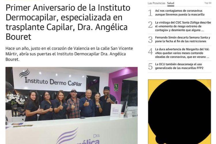 Primer Aniversario de la Instituto Dermocapilar, especializada en trasplante Capilar, Dra. Angélica Bouret