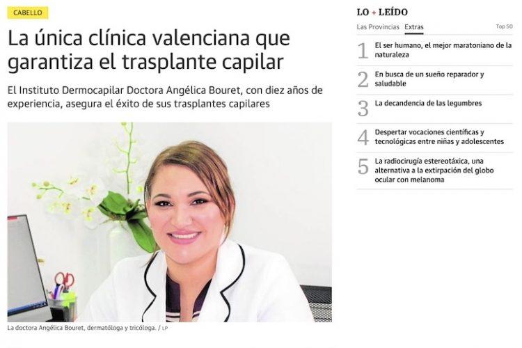 La única clínica valenciana que garantiza el trasplante capilar